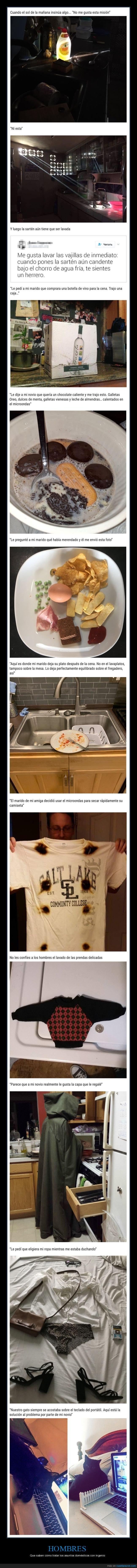 hombres,ingenio,tareas domésticas