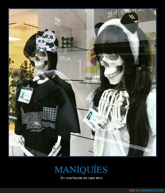 emos,esqueletos,maniquíes