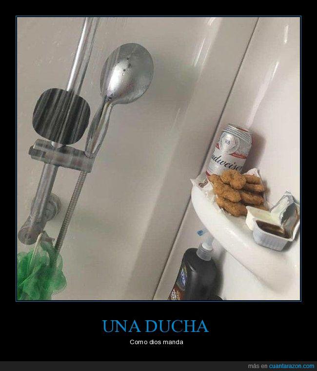 cerveza,ducha,nuggets