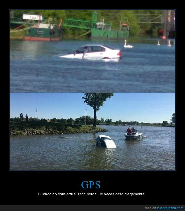 coche,fails,lago