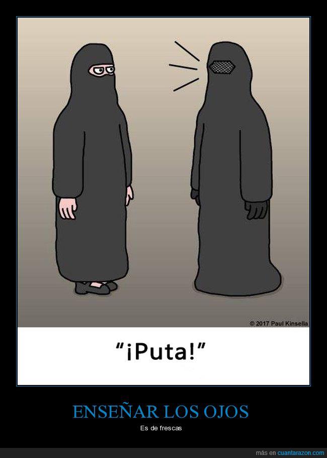 burka,enseñar,ojos