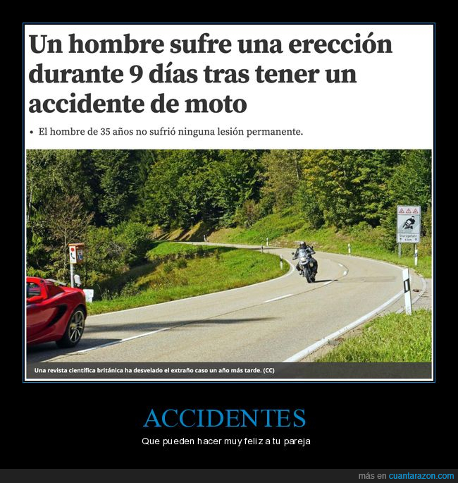 9 días,accidente,moto