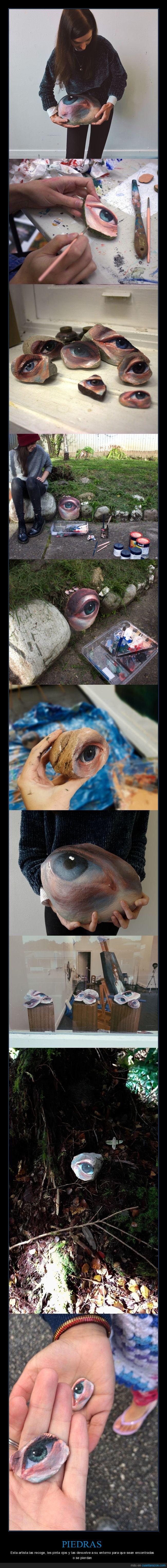artista,ojos,piedras,pintar