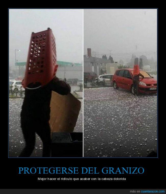 cesta,granizo,protegerse,wtf