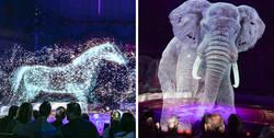Enlace a Este circo alemán usa hologramas en vez de animales para crear una experiencia mágica sin crueldad