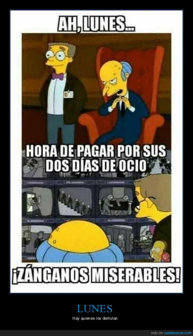 burns,lunes,simpsons