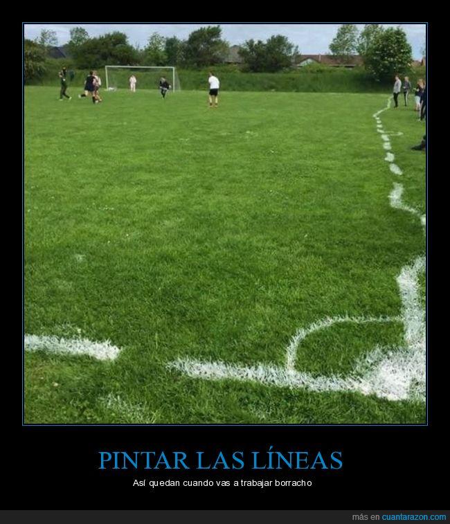 campo de fútbol,fails,líneas