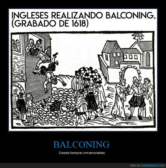 1618,balconing,grabado,ingleses