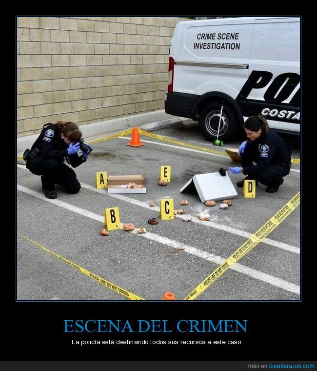 donuts,escena del crimen,policía