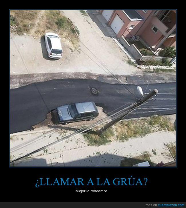 asfalto,coche,fails,wtf