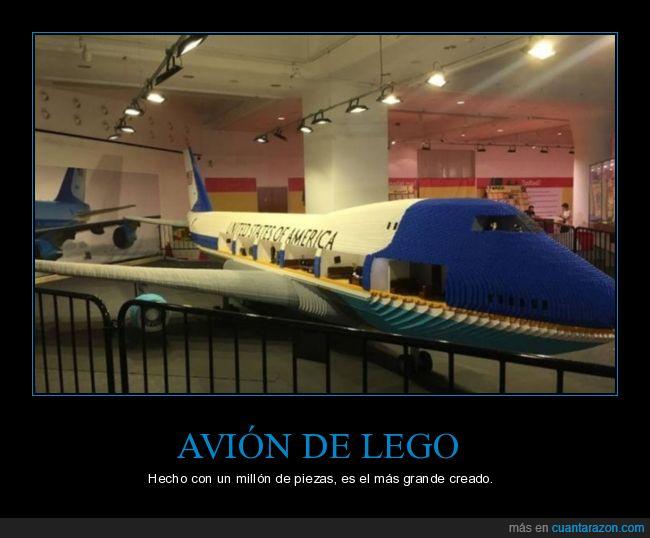 avión,grande,lego
