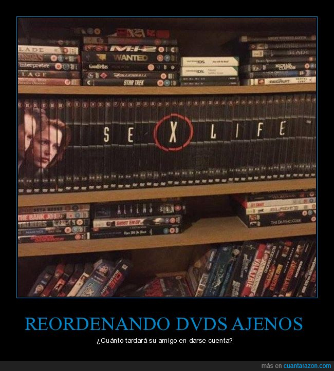 dvd,expediente x,reordenando