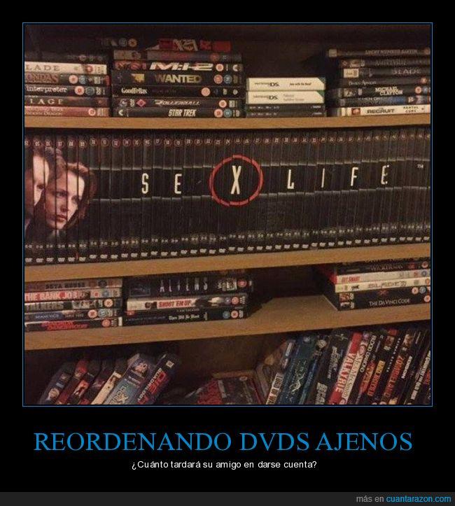 dvd,expediente x,reordenando