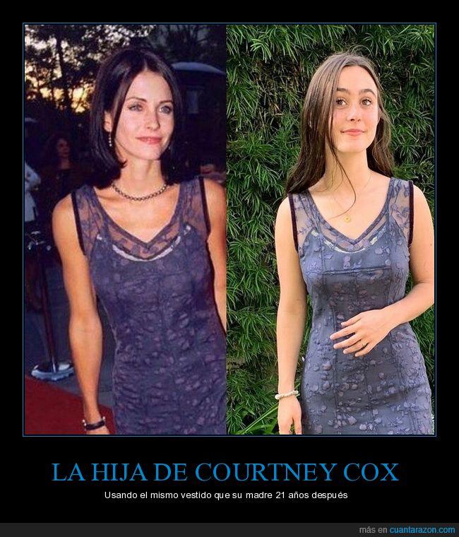 21 años,courtney cox,hija,vestido