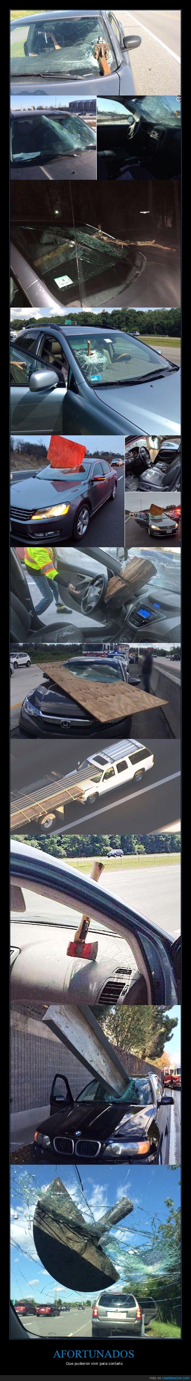 accidentes,afortunados,coches,fails