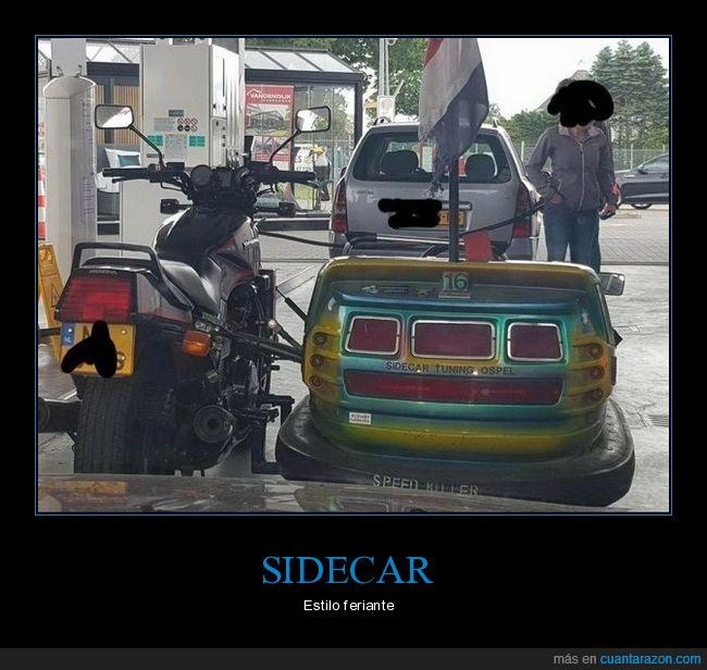 coche de choque,gasolinera,wtf