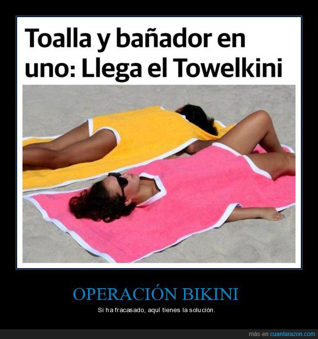 bañador,operación bikini,toalla,towelkini
