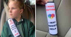 Enlace a Esta madre ha creado cubiertas para los cinturones de seguridad que avisarían al personal de emergencia sobre los problemas de salud de los niños