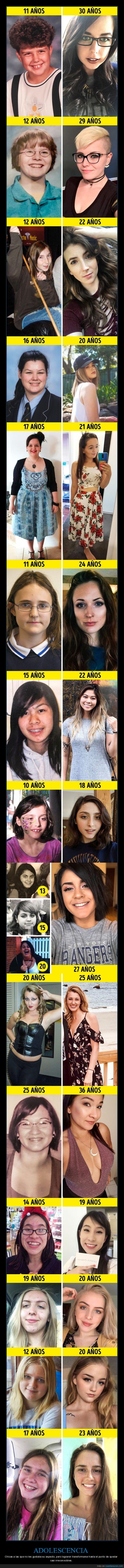 adolescencia,antes,cambios,después