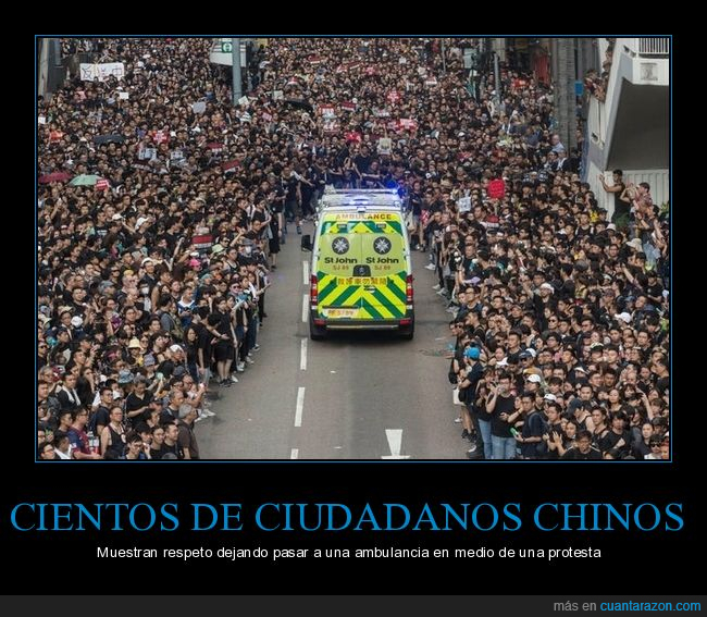 ambulancia,chinos,protesta