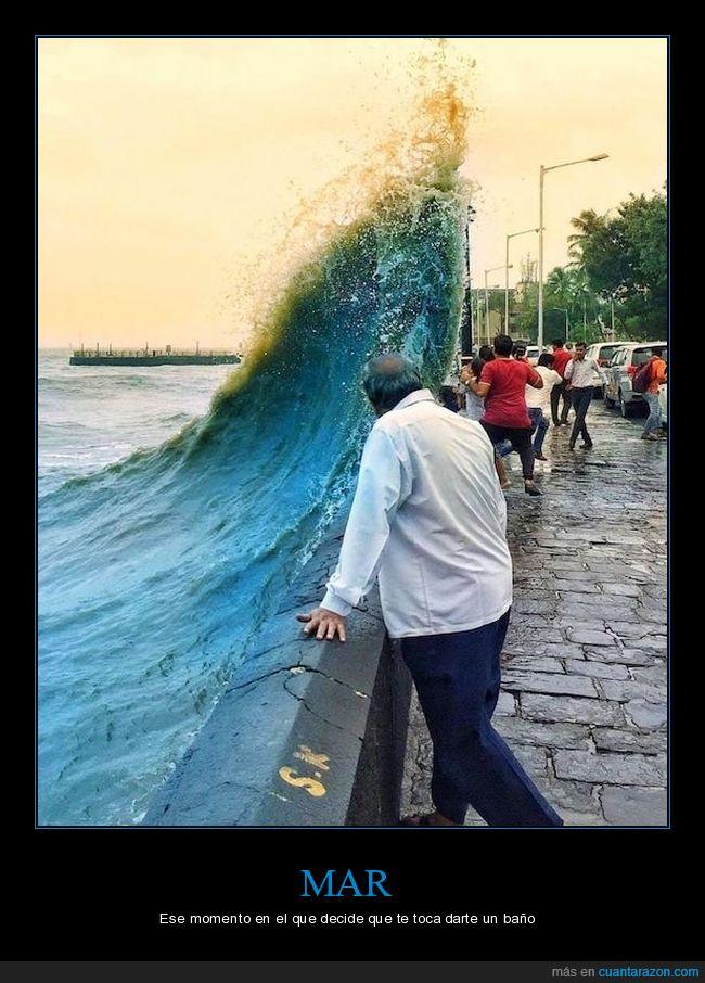 mar,momento exacto,ola