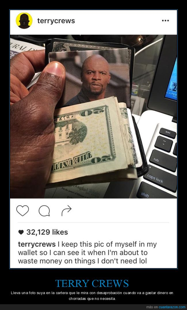 cartera,dinero,foto,gastar,terry crews