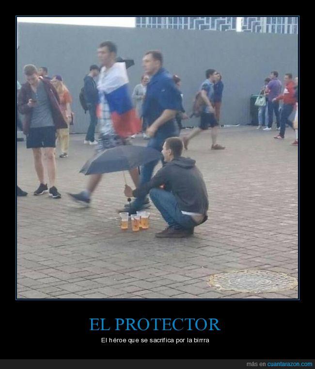 cerveza,paraguas,protegiendo,rusos,wtf