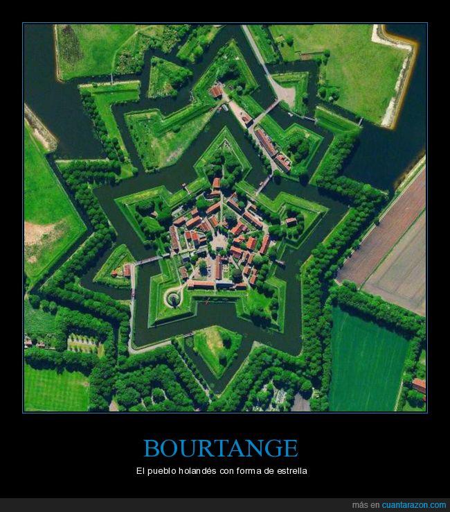 bourtange,estrella,forma,países bajos,pueblo
