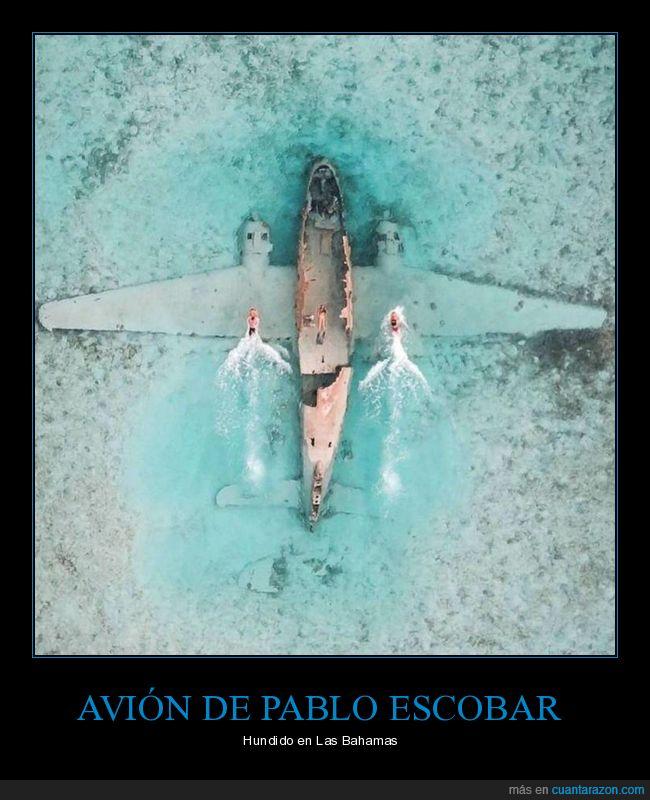 avión,bahamas,hundido,pablo escobar