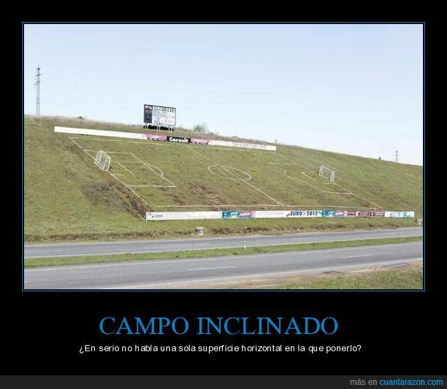 campo de fútbol,inclinado,wtf