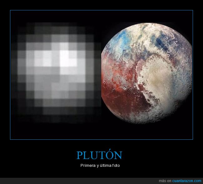 ahora,antes,fotos,plutón