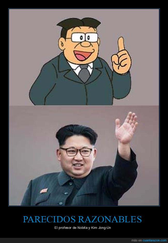 doraemon,kim jong-un,nobita,parecidos
