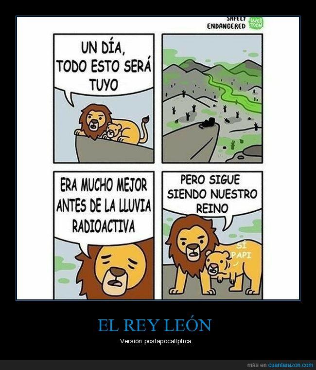 deformes,el rey león,lluvia radioactiva,reino