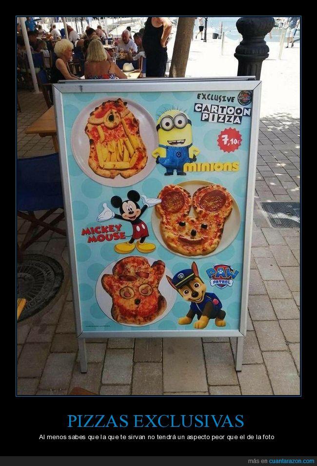 fails,formas,personajes,pizzas
