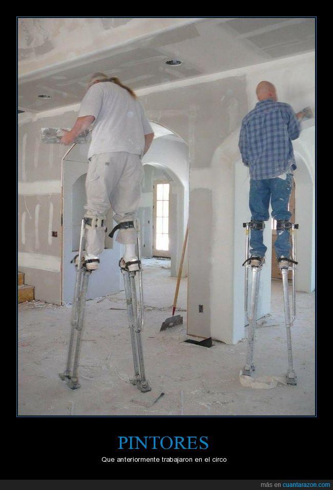 pintores,wtf,zancos