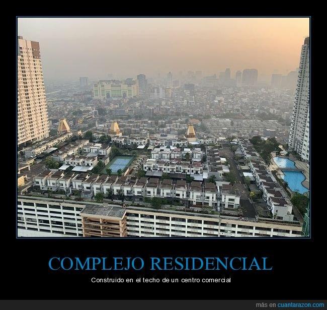 centro comercial,complejo residencial,techo