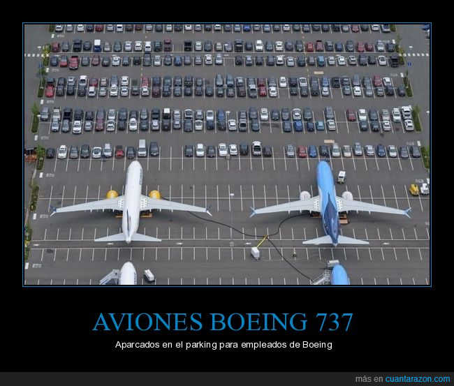 aviones,boeing,coches,parking