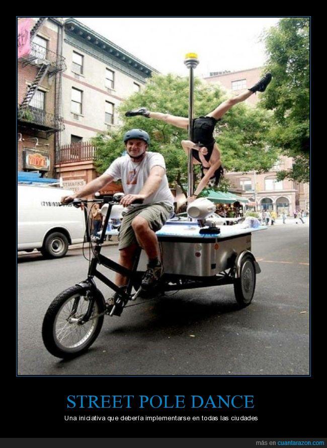 bicicleta,pole dance,wtf