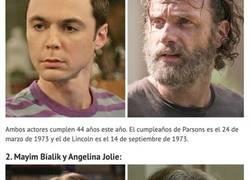 Enlace a Comparaciones entre famosos que sorprendentemente tienen la misma edad