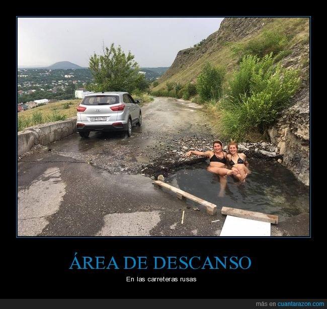 agua,agujero,bañándose,carretera,coche,rusas,rusos,wtf
