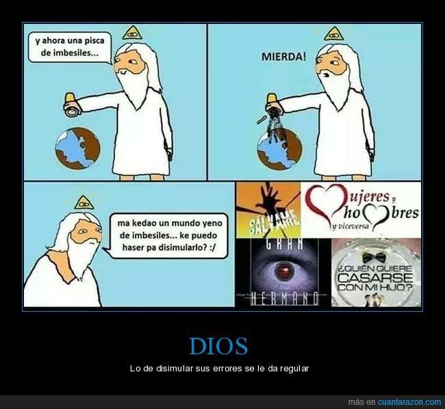 creación,dios,disimular,imbéciles,telecinco