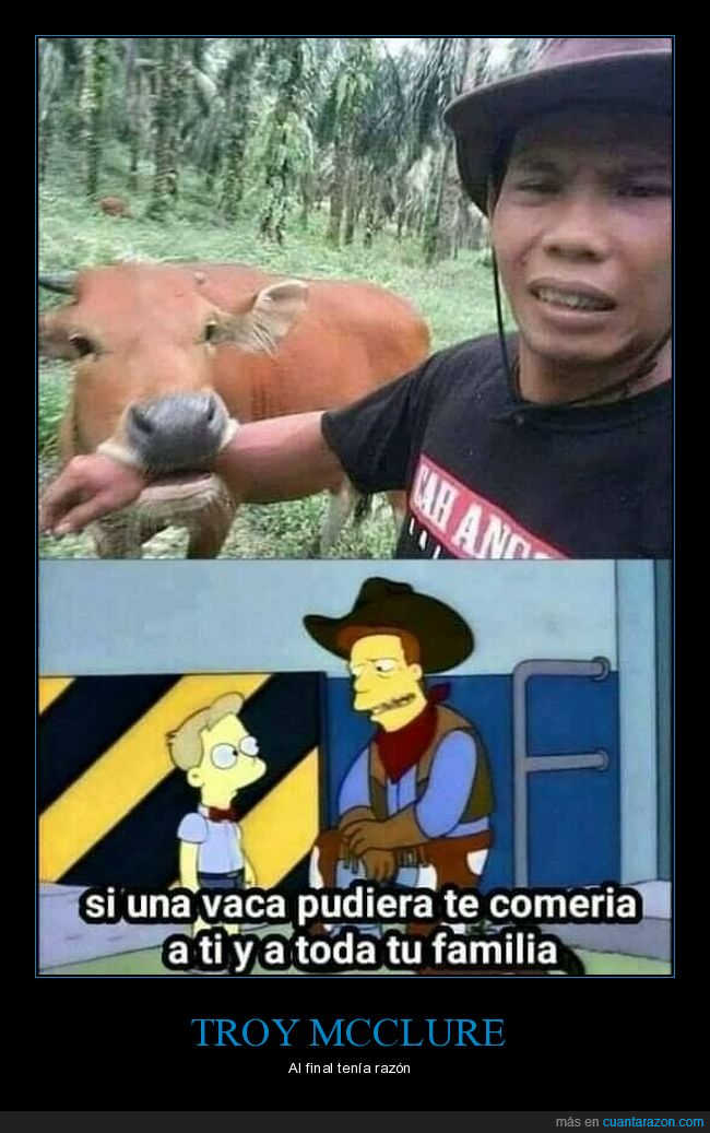 mordisco,simpsons,troy mcclure,vaca