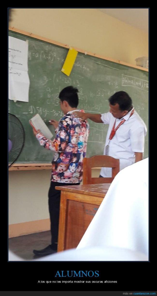 alumno,camisa,clase,profesor,wtf