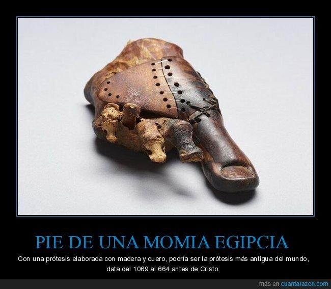 curiosidades,momia,pie,prótesis