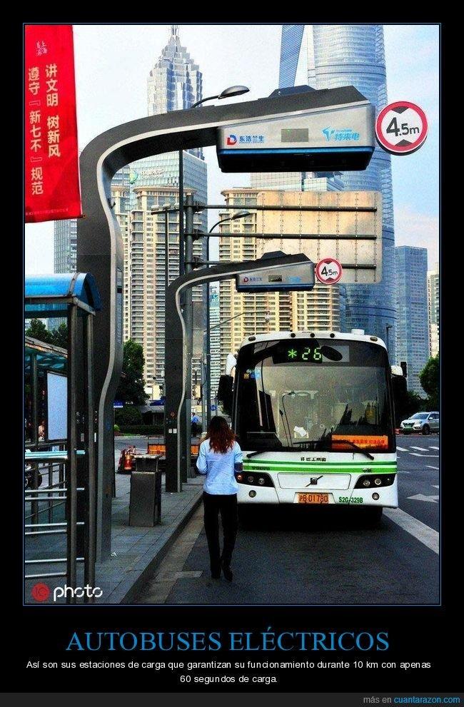 autobuses,eléctricos,estaciones de carga