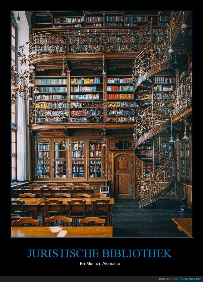 biblioteca,espectacular,Juristische Bibliothek,libros,Munich