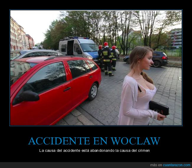 accidente,coches,polonia,t*tas,woclaw