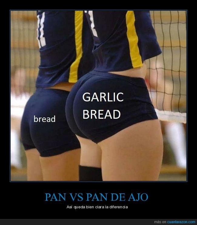 pan,pan de ajo,trasero