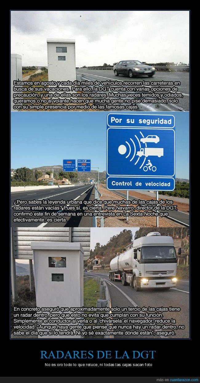 dgt,radar,vacio,velocidad