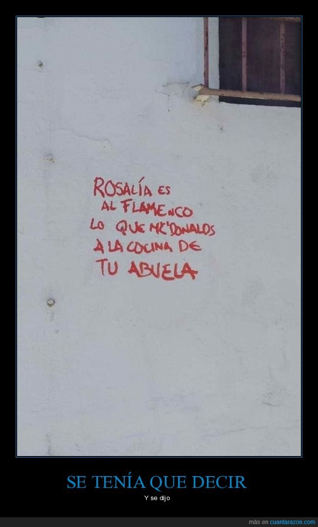 cansina,rosalía,sobrevalorada